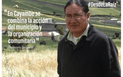 """VOCES CAMPESINAS Floresmilo Simbaña «En Cayambe se combina la acción del municipio y la organización comunitaria"""""""