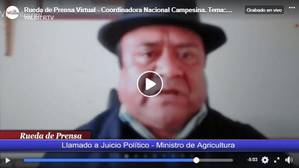 CNC Eloy Alfaro y Comité Nacional de AFC llaman a Juicio Político al Ministro de Agricultura