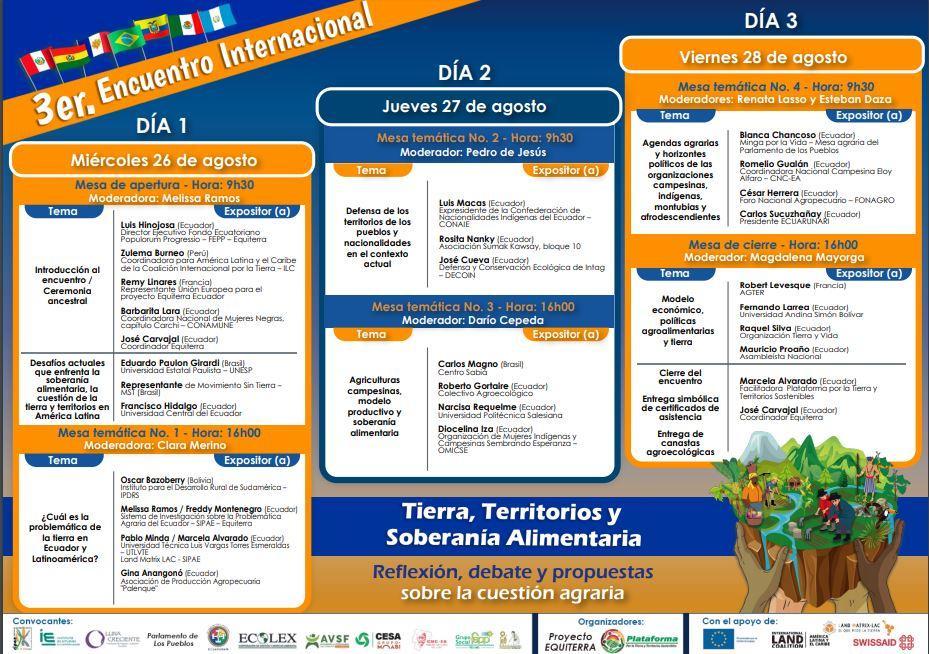 III Encuentro Internacional Tierra, Territorios y Soberanía Alimentaria: voces de unidad