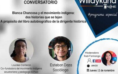 Conversatorio: «Blanca Chancosa y el movimiento indígena: dos historias que se tejen»