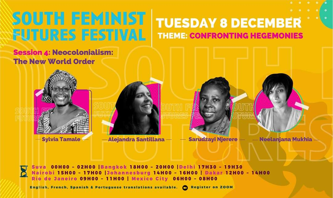 South Feminist Futures Festival – Sesión 4: Neocolonialism in a New World Order