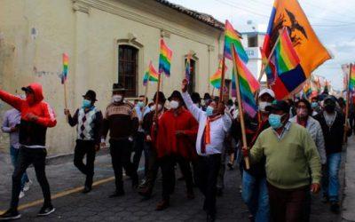Las bases del Movimiento Indígena y Campesino de Cotopaxi se movilizaron a Quito y Guayaquil