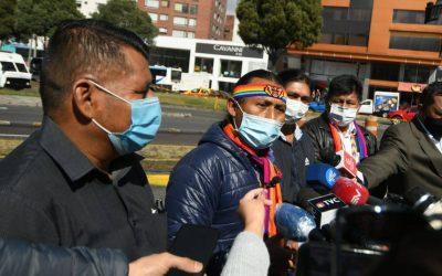 Dirigentes amazónicos agrupados en la Conaie están en Quito para 'vigilar' los votos de Yaku Pérez