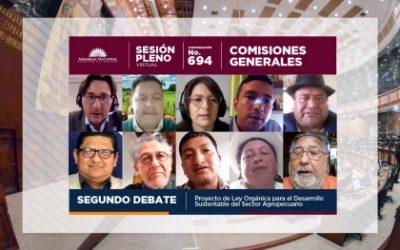 FAO, ORGANIZACIONES SOCIALES Y CAMPESINAS HACEN OBSERVACIONES Y APORTES AL PROYECTO DE LEY PARA EL DESARROLLO DEL SECTOR AGROPECUARIO