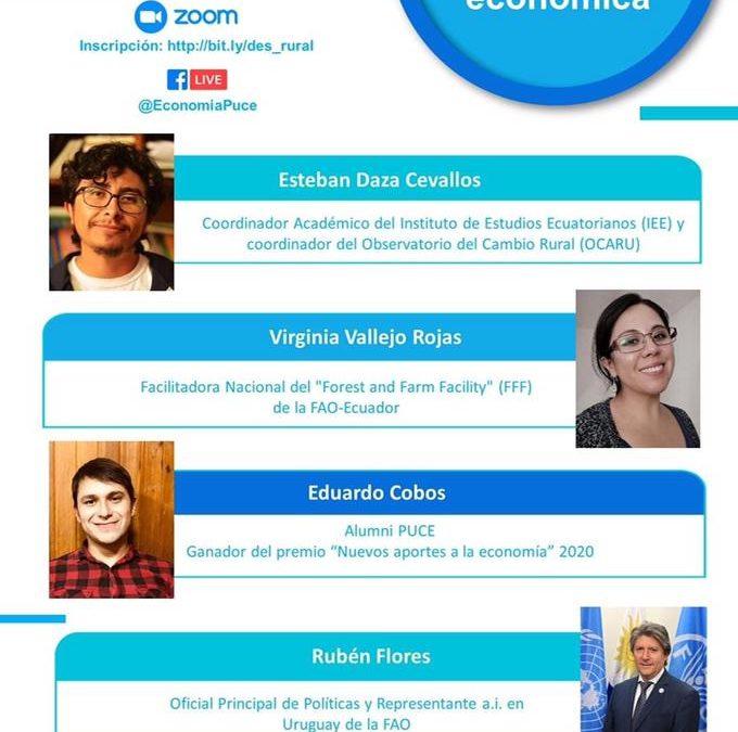 Invitación para Facebook Live acerca del «Desarrollo Rural para la Reactivación Económica»
