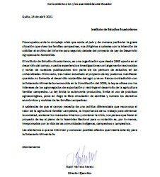 El IEE/OCARU envían carta a la Asamblea Nacional