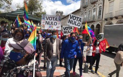 Yaku Pérez ratifica su respaldo al voto nulo en el último día de campaña electoral