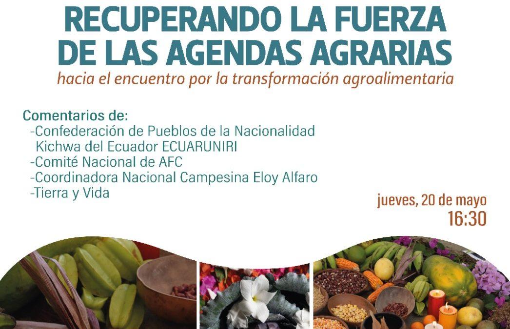 INVITACIÓN – Lanzamiento de la cartilla: «Recuperando las Fuerzas de las Agendas Agrarias»
