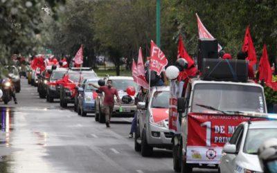 El FUT conmemoró el 1 de Mayo con una caravana desde el norte hasta el sur de Quito