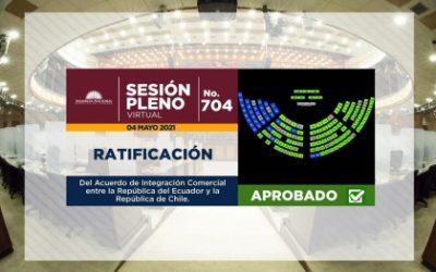 PARLAMENTO RATIFICA ACUERDO DE INTEGRACIÓN COMERCIAL ENTRE ECUADOR Y CHILE QUE BENEFICIA A SECTORES AGRÍCOLA Y GANADERO