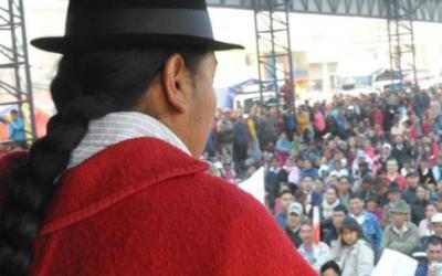 Leonidas Iza llama a una movilización para el 11 de junio, dos semanas antes del Congreso de la Conaie