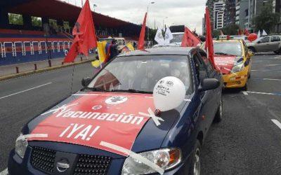 Trabajadores conmemoran el 1 de Mayo con movilización en Quito
