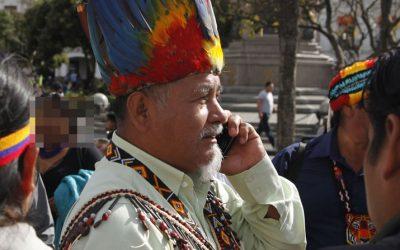 Detenido el expresidente de la Conaie Antonio Vargas, días antes del congreso de la organización indígena