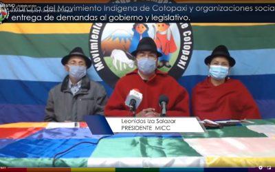 Movilización indígena en contra de los precios de los combustibles será en Latacunga y pacífica