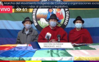 Protesta indígena se reduce a Cotopaxi y liderada por Iza