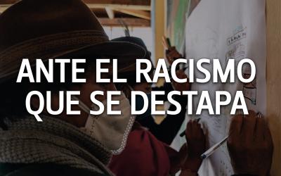 Ante el racismo que se destapa